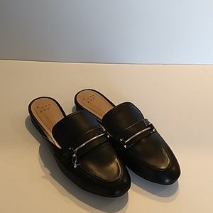 A new day black mule shoes with silver size 8.5